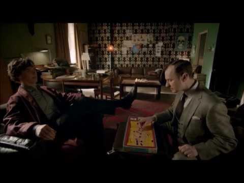 Sherlock 3x01 - Mycroft - Operation game scene [Oh, bugger!]