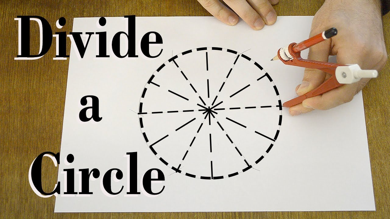 How To Divide A Circle Into Equal Parts Youtube Circle Stencil Designs Geometric Drawing