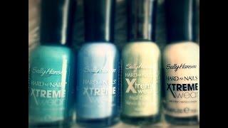 sally hansen xtreme nail polish and wet n wild brow pencil review