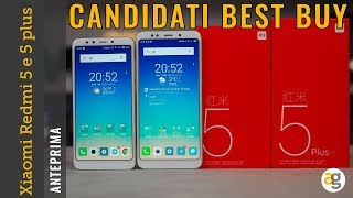 Xiaomi REDMI 5 e PLUS Candidati BEST BUY
