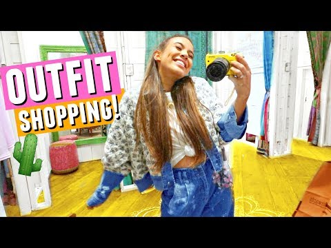 OUTFIT SHOPPING FOR COACHELLA 2018!🌵🌞👖 Come shopping with me!