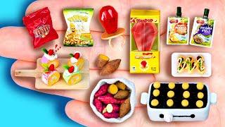 16 DIY MINIATURE FOODS IDEAS FOR DOLLHOUSE BARBIE