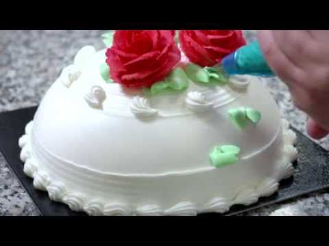 Cake Decoration By Cream : Cake decoration with Ambiante non-dairy cream - YouTube