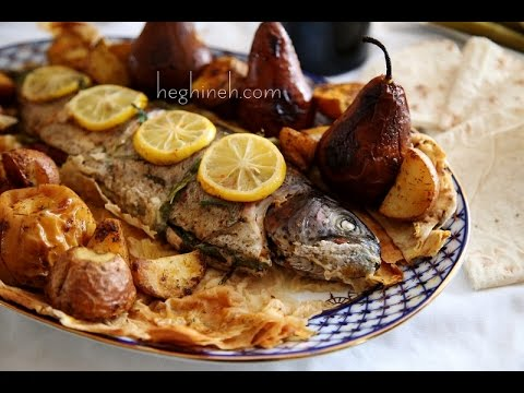 Armenian Easter Dish - Lavash Baked Fish Recipe - Heghineh Cooking Show