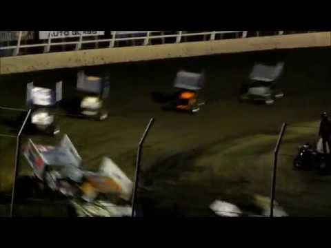 410 Sprint Feature - Husets Speedway 7-3-14