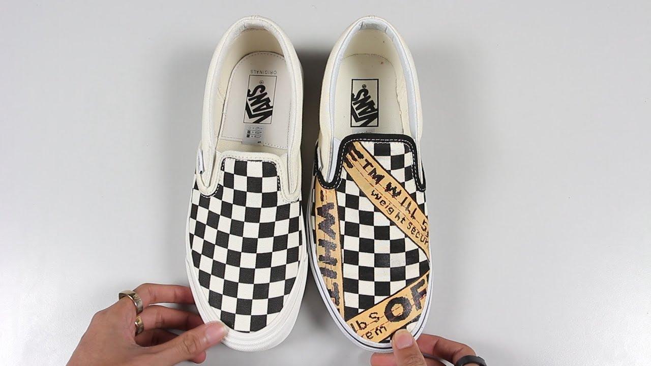 60e3f1f524 So sánh Vans Vault Checkerboard Slip-On vs Vans Classic Checkerboard Slip-On