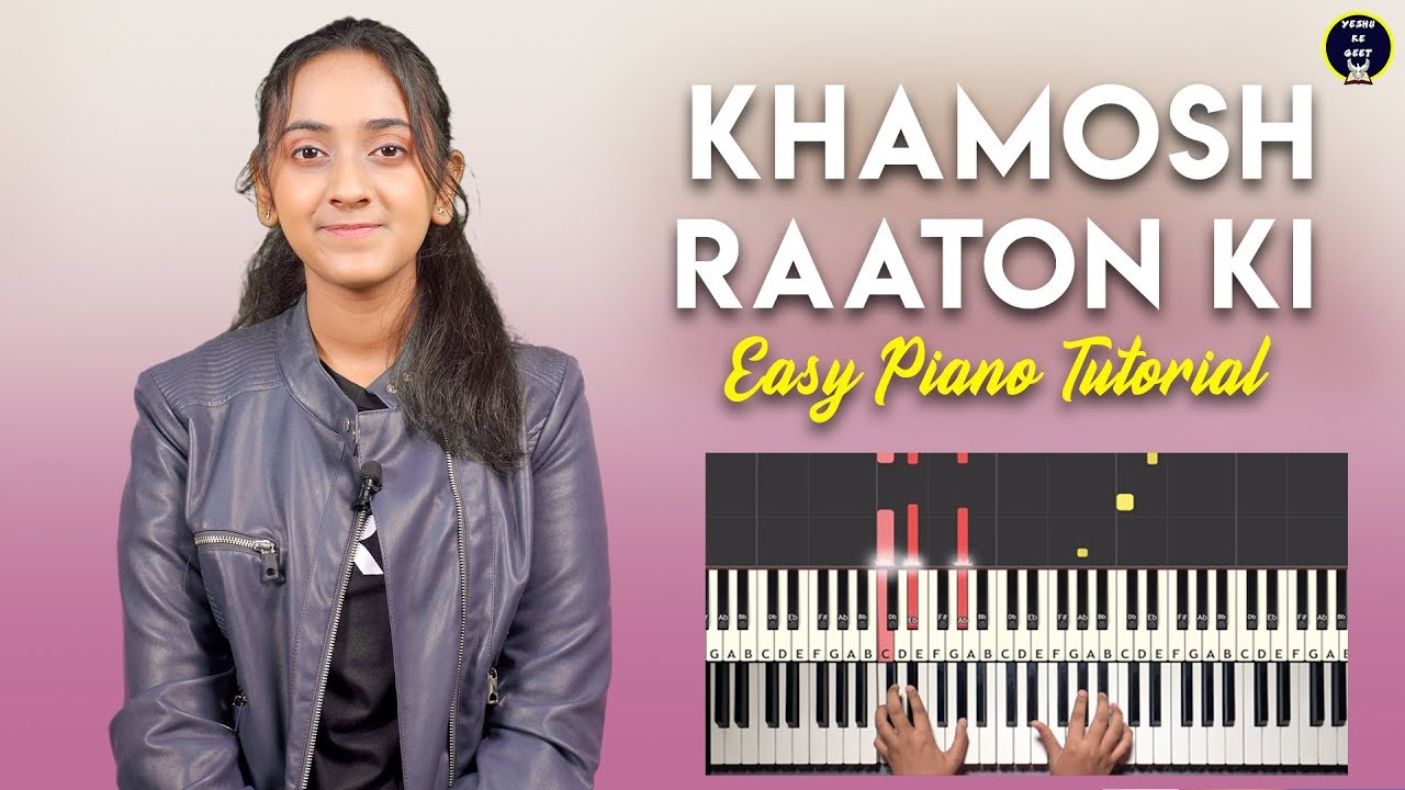 Khamosh Raaton Ki - Easy Piano/Keyboard Chords & Notes | Hindi Christmas Carol Songs | Yeshu Ke Geet