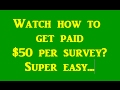 Make Money FAST with ONLINE SURVEYS! - Best Paid Surveys Sites | Survey Paid Me $50