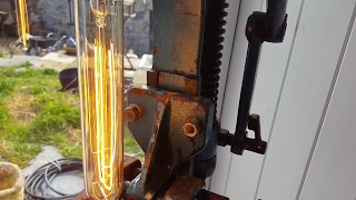Make a Industrial style Lamp - Upcycled Steampunk Light from scrap metal