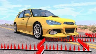 Massive Spike Strip Pileup Crashes #56 – BeamNG Drive | CrashBoomPunk