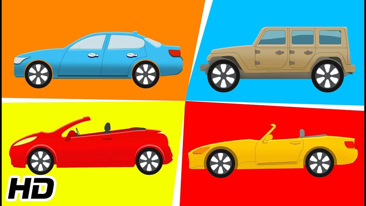 Types of Car Vehicles For Children | Transportation Cars Videos | Shemaroo  Kids Junior - YouTube