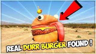 "REAL ""DURR BURGER"" FOUND IN DESERT! FORTNITE DESERT MAP CONFIRMED! (Full Footage)"