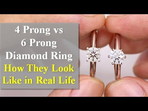 4 Prong vs  6 Prong Setting for Diamond Jewelry (Which is