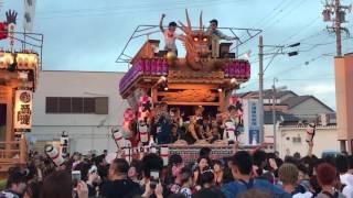 御前崎駒形神社祭典の合同披露、大山区子供の部.