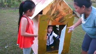 DIY Membuat Rumah Kardus Sederhana Untuk Anak Bermain - Playground Murah Dari Kardus Bekas
