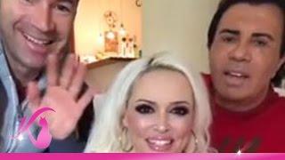 Daniela Katzenberger Facebook-Live-Video Silvester 2016 mit Lucas und Costa Cordalis