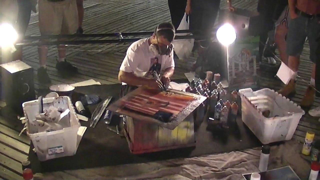 Spray Paint Artist Joshua Moonshine, Wildwood NJ 06/30/09 ...