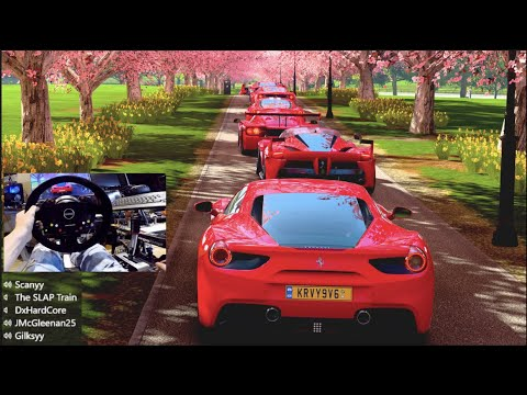 FH4 GoPro - 12 650+HP Ferrari's Cruise Out LC!! Found Pink Trees!!