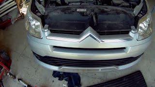 Citroën C4 Front bumper removal