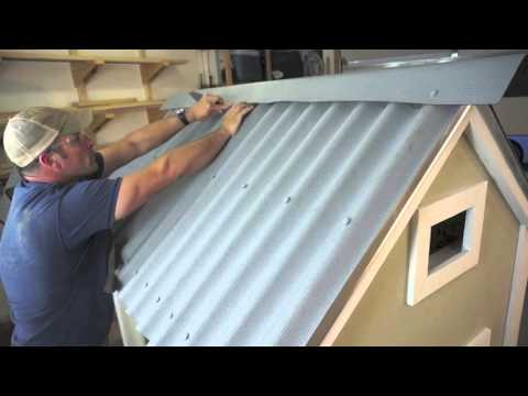 Installing Ondura Corrugated Roofing Sheets On A Chicken