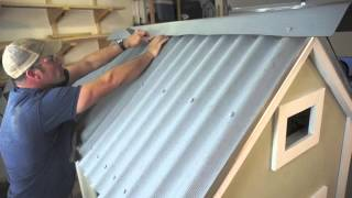 Installing ONDURA Corrugated Roofing Sheets on a Chicken Coop
