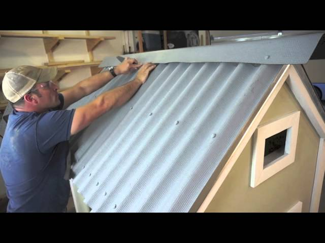 Installing Ondura Corrugated Roofing Sheets On A Chicken Coop Youtube