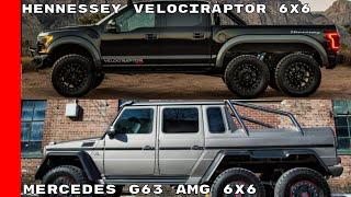 Hennessey VelociRaptor 6x6 vs Mercedes G63 AMG 6x6