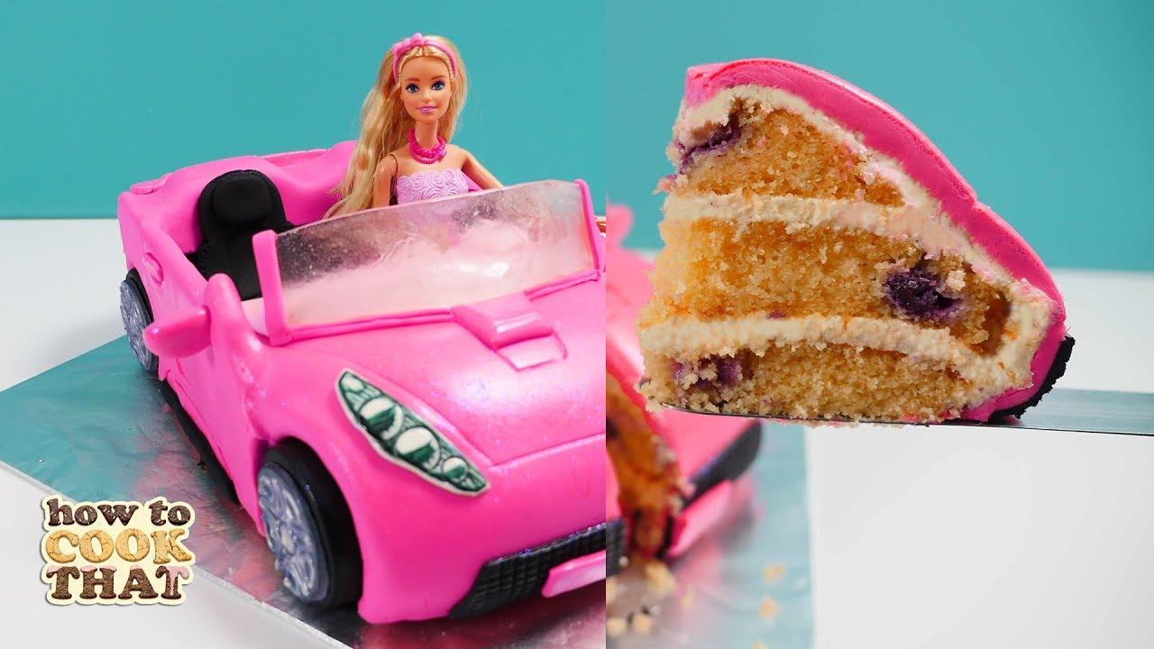 Barbie Car Cake How To Cook That Ann Reardon Youtube