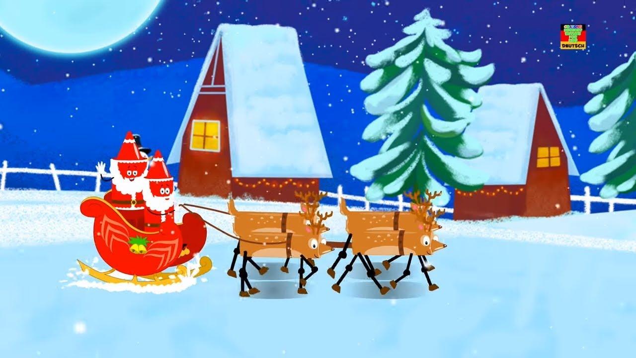 Fünf fette Weihnachtsmänner | Weihnachtslieder | Reime für Kinder ...