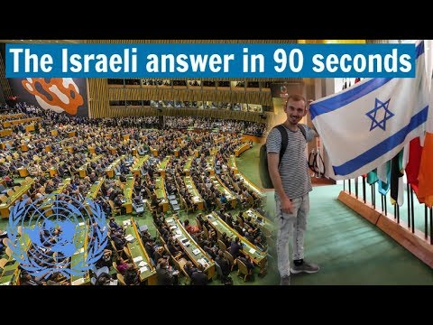 A Simple Answer to the UN About Israel (In 90 Seconds)