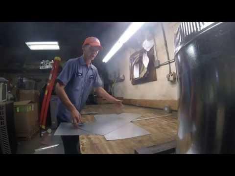 Sheet metal folding and bending: Makin' a plenum