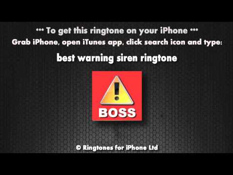 Warning it's the boss (iPhone Ringtone)