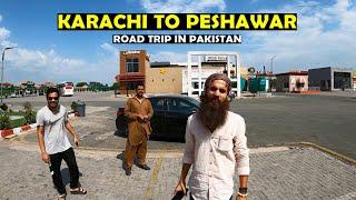 Karachi to Peshawar Road Trip in Pakistan | Sukkur Motorway