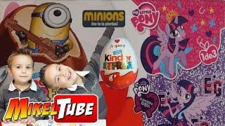 My Little Pony y Minions KINDER Huevos chocolate Sorpresas en tu canal infantil MikelTube Español
