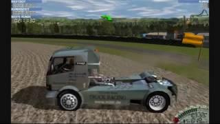 Mercedes Benz Truck Racing 2000 геймплей