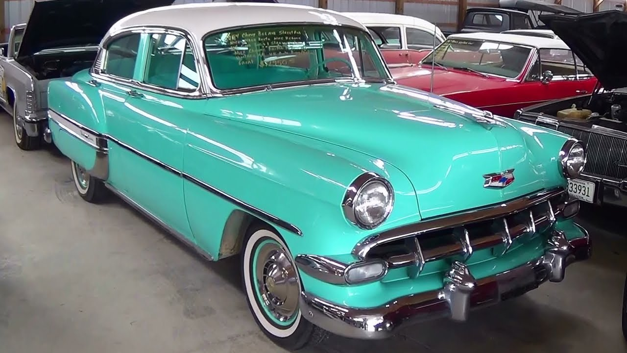 1954 Chevrolet Bel Air Hot Rod Sedan V8   YouTube 1954 Chevrolet Bel Air Hot Rod Sedan V8