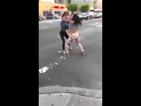 Girl Fight   Crazy Knockouts   Brutal Street Fight - YouTube