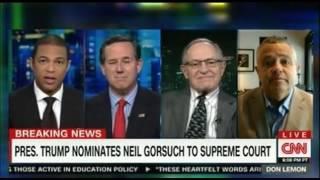 Dershowitz believes Trump made a smart Supreme Court pick Santorum Toobin join in