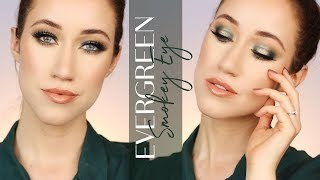 EVERGREEN SMOKEY EYE | Holiday Makeup Tutorial | ALLIE GLINES