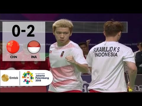 CHN v INA - Final Badminton Beregu Putra: Gideon/Sanjaya vs Li/Liu - Highlight | Asian Games 2018