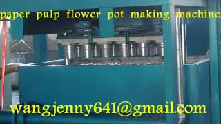 paper pulp molding flower pot making machine whatsapp:0086-15153504975