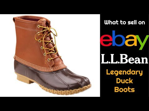 What to Sell on eBay:  LL Legendary Bean Duck Boots