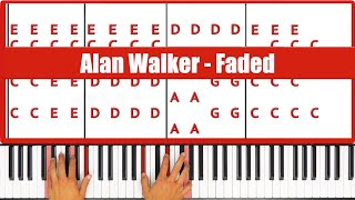 How To Play Faded Alan Walker Piano Tutorial ♫ EASY