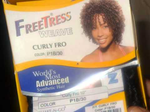Short Curly Quickweave Freetress Curly Fro Youtube