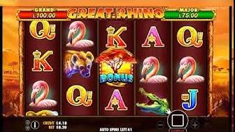 Trada Casino - Rhino - 100 Spins