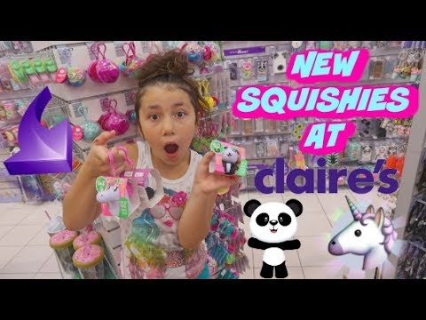 NEW SQUISHIES AT CLAIRE'S!!! | SHOPPING AT CLAIRES MALL VLOG