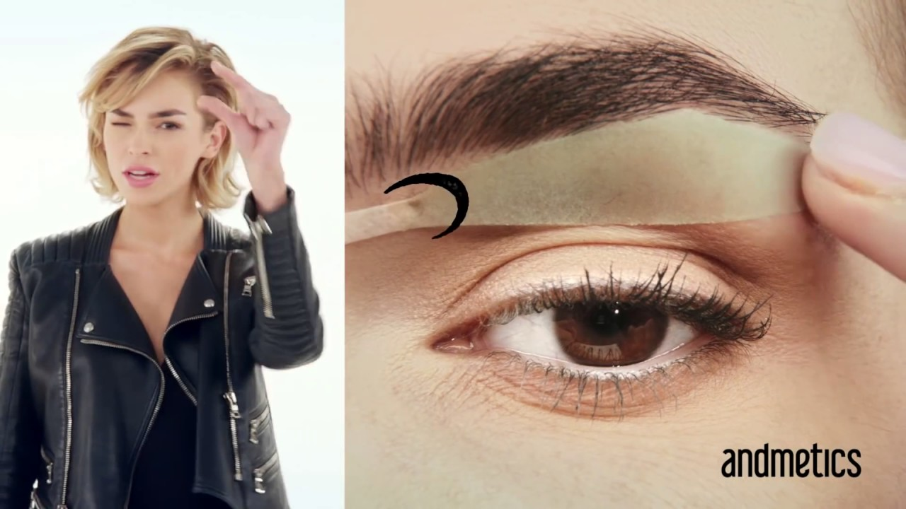 How To Use Andmetics Brow Wax Strips For Wow Brows Youtube