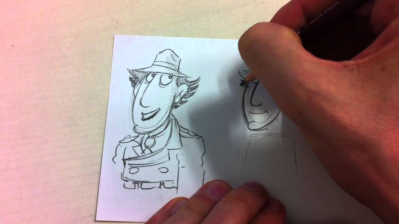 how to draw inspector gadget part 1 - jim's cartoon tube - youtube
