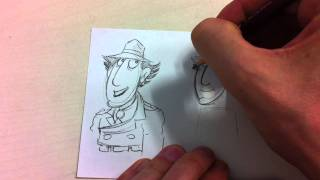 How to Draw Inspector Gadget part 1 - Jim