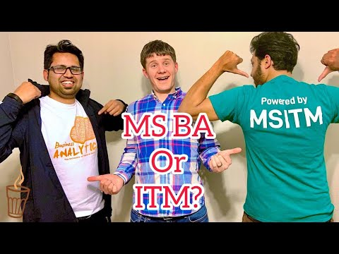 Business Analytics Or Information Technology Management Masters Degree | MS BA Vs ITM (MIS) In US